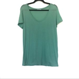 Women's Vince Scoop Neck Sea Glass Boy T shirt M